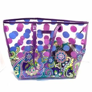 Vera Bradley Bags - Vera Bradley Clear Beach Bag & Matching Makeup Bag